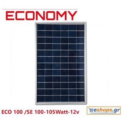 Φωτοβολταϊκό πανελ 100 watt  ECO OEM 100 / 100-105Watt - 12v