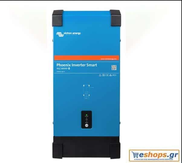 Inverter Καθαρού Ημιτόνου Victron Phoenix 12/2000 Smart 2000VA 24Vμε WiFi / bluetooth