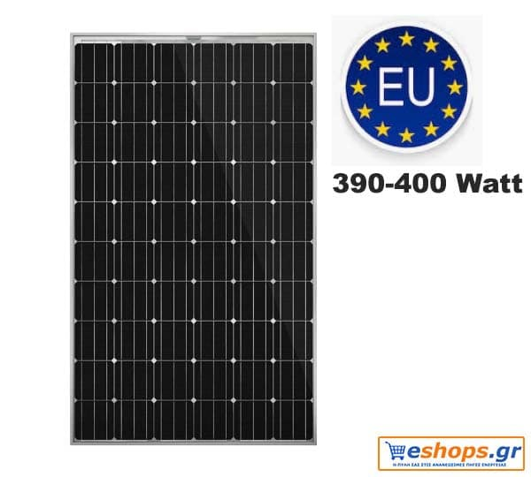 390 watt 400 watt φωτοβολταϊκό πάνελ πλαίσιο ευρωπαικό μονοκρυσταλλικού πυριτίου