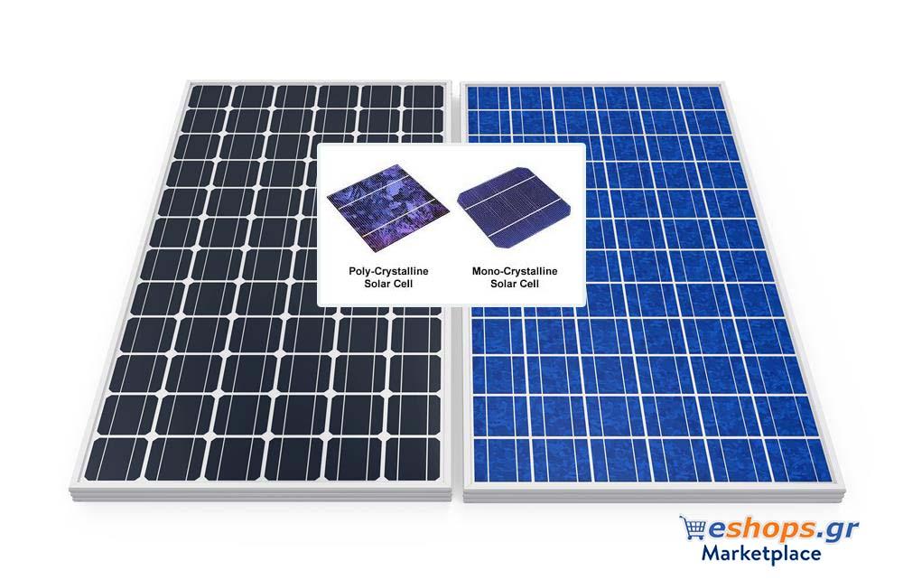 Τύποι φωτοβολταϊκών πανελ πλαισίων για το 2021-2022 φωτοβολταικα-μονοκρυσταλλικά-πολυκρυσταλλικά-monocrystalline-vs-polycrystalline-solar-panels-2021-2022